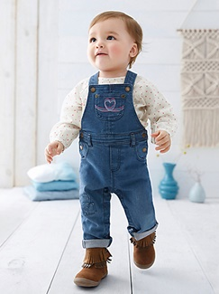 Bébé-Les looks-Denim & folk
