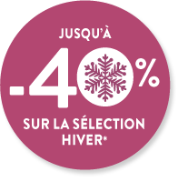 jusqu'à -40% sur la sélection hiver