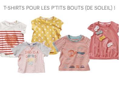 T-SHIRT POUR LES P'TITS BOUTS (DE SOLEIL) !