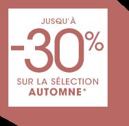 -30% sur la sélection Automne