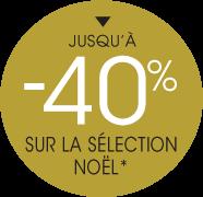 -40% sur la sélection Noël