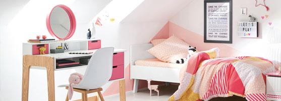 Lits enfants et lits b b s barreaux volutif vertbaudet for Vertbaudet chambre fille