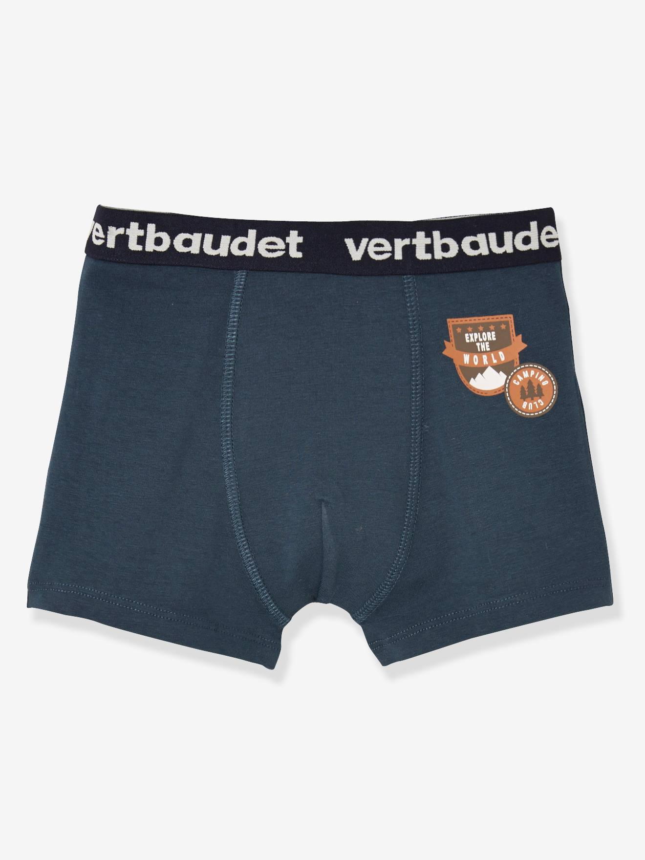 Exclusif Lot de 3 boxers stretch garçon Camper lot bleu nuit PZnOy