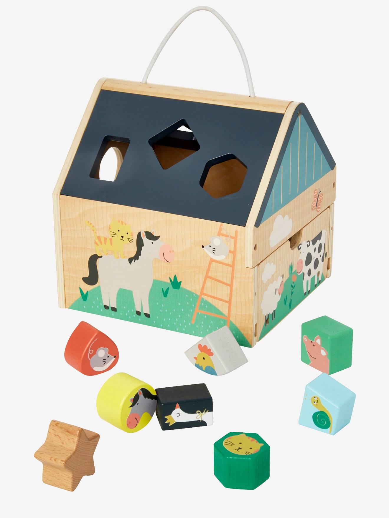 Maison des formes en bois multicolore - Vertbaudet