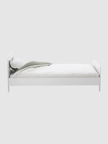 lit volutif enfant avec sommier ligne pastille blanc vertbaudet. Black Bedroom Furniture Sets. Home Design Ideas