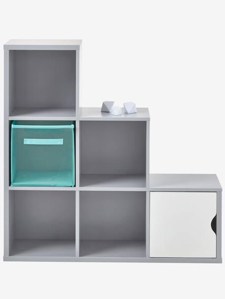 meuble de rangement 6 cases gris vertbaudet. Black Bedroom Furniture Sets. Home Design Ideas