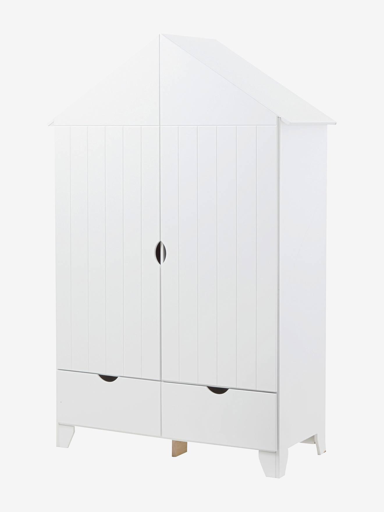 armoire 2 portes holidays xl blanc vertbaudet. Black Bedroom Furniture Sets. Home Design Ideas