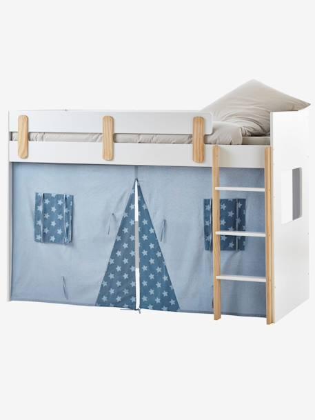 tente pour lit mezzanine mi hauteur ligne everest bleu. Black Bedroom Furniture Sets. Home Design Ideas