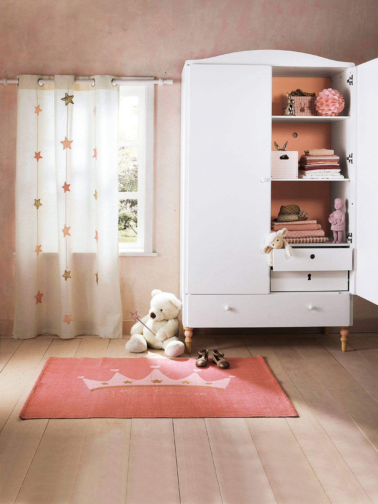 rideau vert baudet excellent rangement et occultant pois. Black Bedroom Furniture Sets. Home Design Ideas