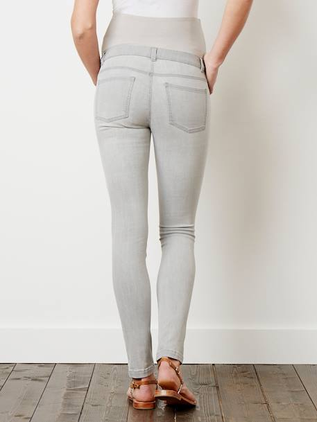 Jean slim stretch de grossesse entrejambe 85 Denim black+Denim brut+Denim gris+Denim Gris Clair+Double Stone 23 - vertbaudet enfant