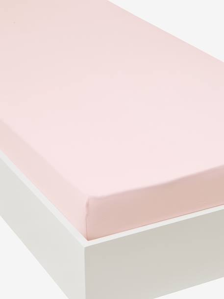 Drap housse enfant en jersey extensible uni couleur rose for Drap housse extensible