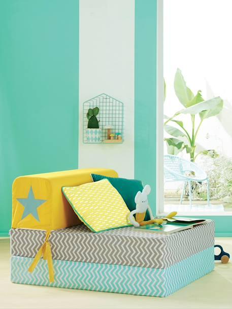 chauffeuse scarab e gris vert vertbaudet. Black Bedroom Furniture Sets. Home Design Ideas