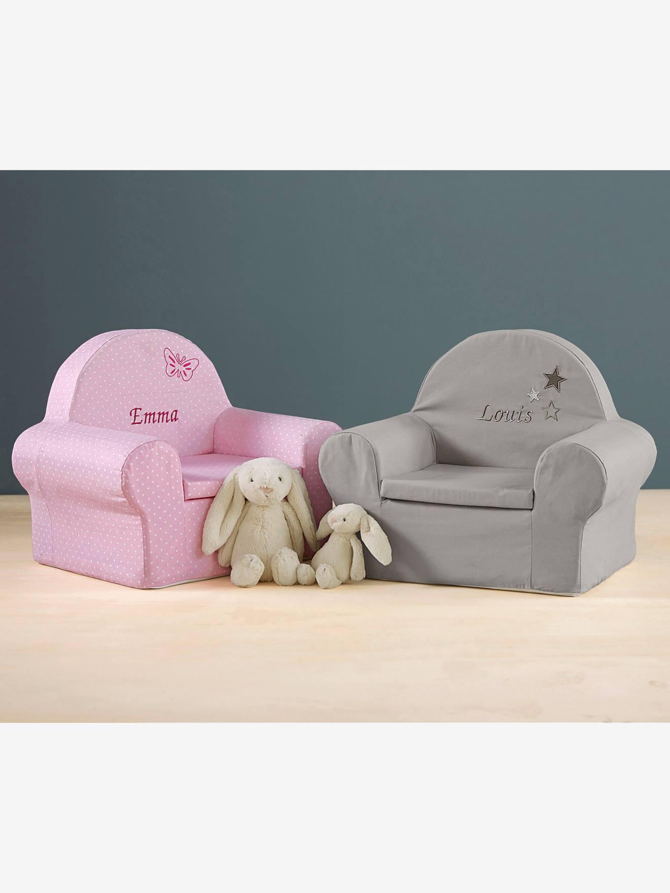 fauteuil en mousse personnalisable lutin rose pois blancs. Black Bedroom Furniture Sets. Home Design Ideas