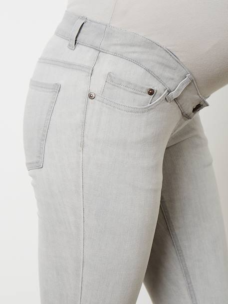 Jean slim stretch de grossesse entrejambe 85 Denim black+Denim brut+Denim gris+Denim Gris Clair+Double Stone 25 - vertbaudet enfant