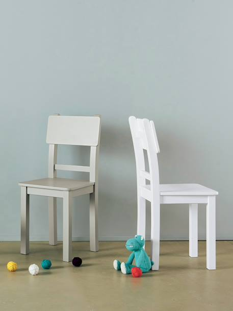 Chaise Color junior, assise H 45 cm BLANC+BLEU FONCE+Gris 2 - vertbaudet enfant