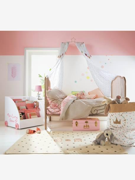 lit volutif en m tal boh me gris vertbaudet. Black Bedroom Furniture Sets. Home Design Ideas