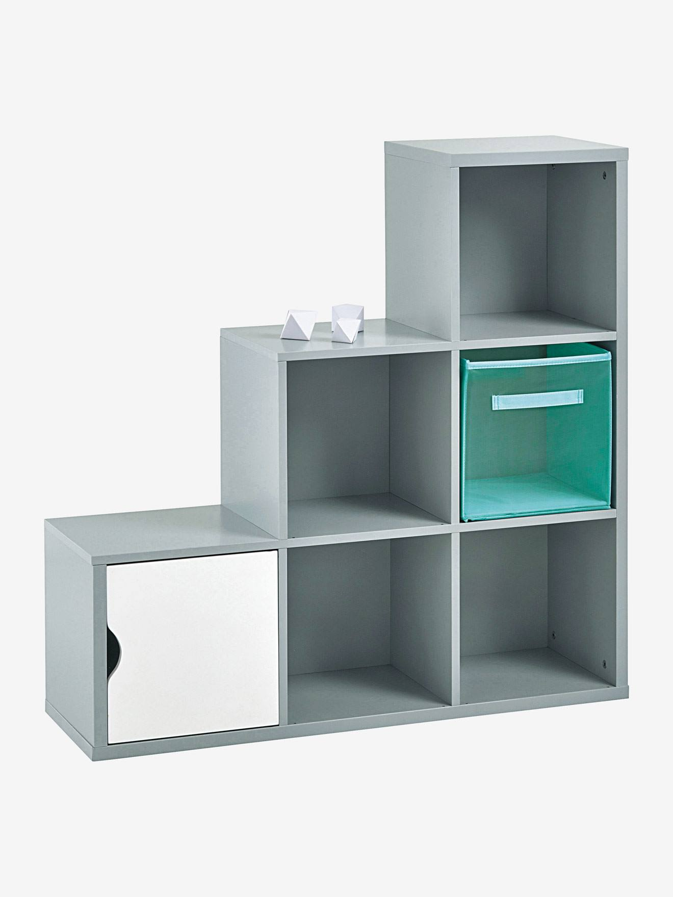 Meuble de rangement 6 cases gris vertbaudet for Meuble 6 cases ikea