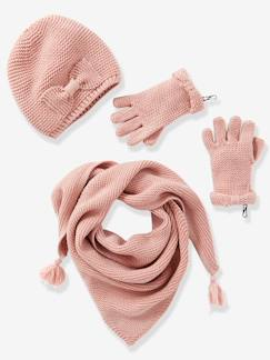 Nouvelle collection-Fille-Echarpe fille + bonnet + moufles ou gants