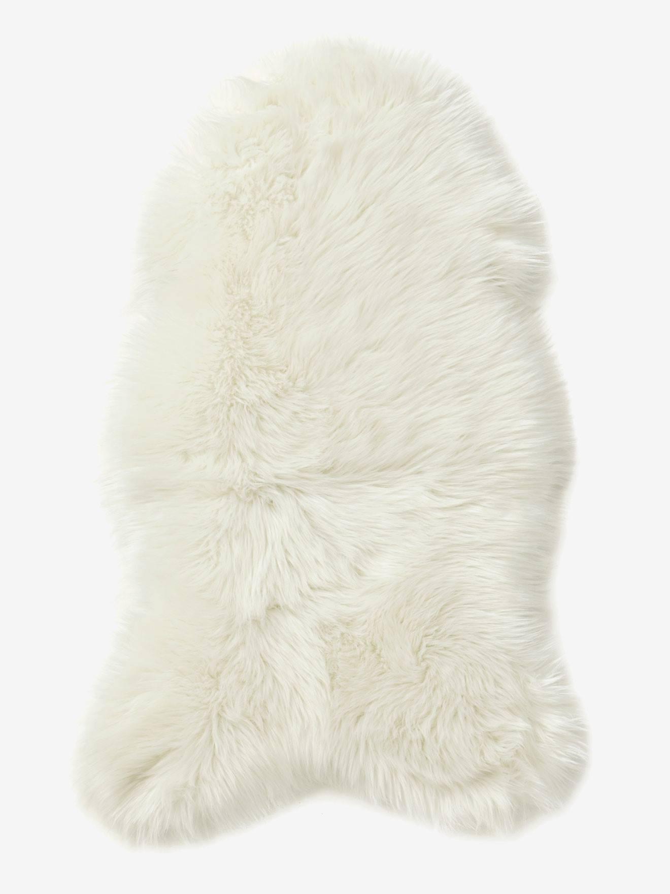 Tapis effet peau de mouton blanc Vertbaudet