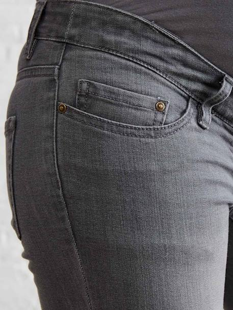 Jean slim stretch de grossesse entrejambe 78 Denim gris+Denim gris clair+Denim noir+Double stone 5 - vertbaudet enfant