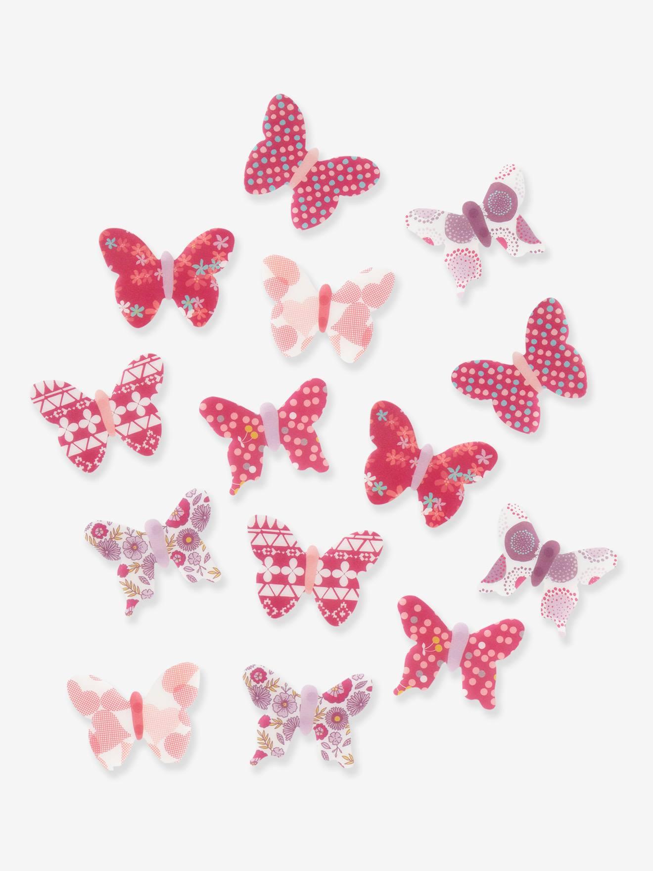 Lot de 14 papillons déco enfant multicolore Vertbaudet