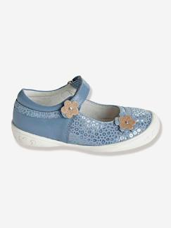 Chaussures-Chaussures fille 23-38-Ballerines, babies-Babies scratchées cuir fille spécial maternelle
