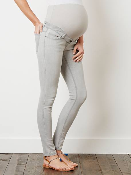 Jean slim stretch de grossesse entrejambe 85 Denim black+Denim brut+Denim gris+Denim Gris Clair+Double Stone 24 - vertbaudet enfant