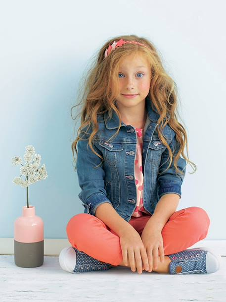 Veste fille en denim stretch Stone 3 - vertbaudet enfant