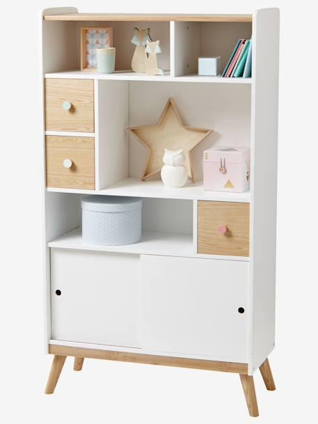 etag re biblioth que ligne confetti blanc bois vertbaudet. Black Bedroom Furniture Sets. Home Design Ideas