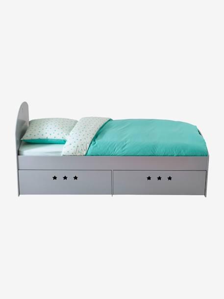 lit fixe enfant avec tiroirs ligne sirius blanc vertbaudet. Black Bedroom Furniture Sets. Home Design Ideas