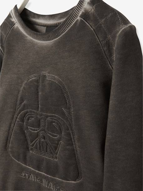 Sweat-shirt garçon Star Wars® Dark Vador brodé Noir 3 - vertbaudet enfant