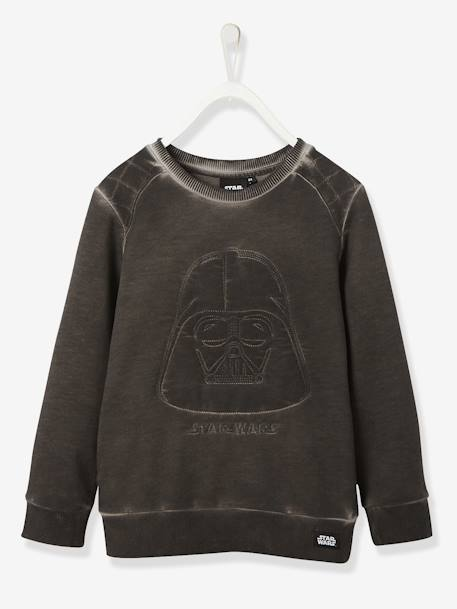 Sweat-shirt garçon Star Wars® Dark Vador brodé Noir 1 - vertbaudet enfant