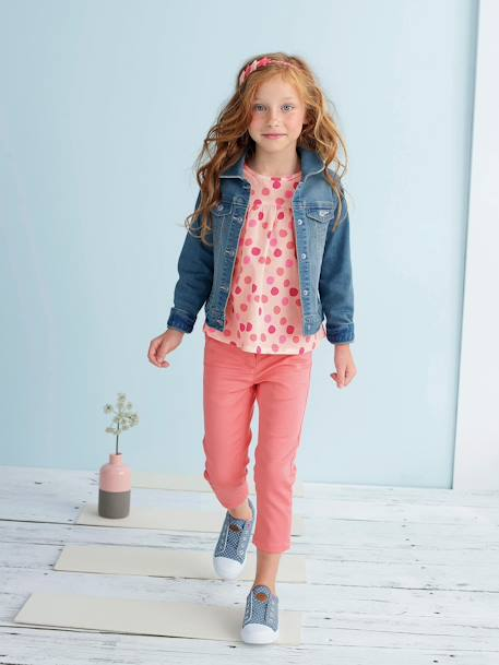 Veste fille en denim stretch Stone 2 - vertbaudet enfant