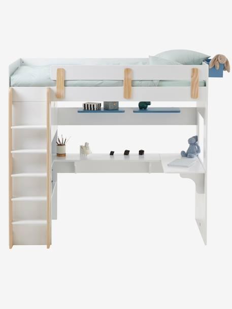 lit mezzanine combin ligne everest blanc bois vertbaudet. Black Bedroom Furniture Sets. Home Design Ideas