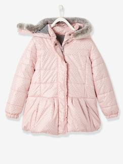 Nouvelle collection-Doudoune fille imprimée à capuche