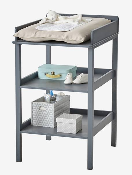 Table à langer Madison Blanc+Gris+Gris 7 - vertbaudet enfant