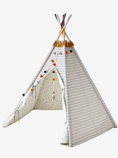 tipi r versible g ronimo blanc imprim vertbaudet. Black Bedroom Furniture Sets. Home Design Ideas
