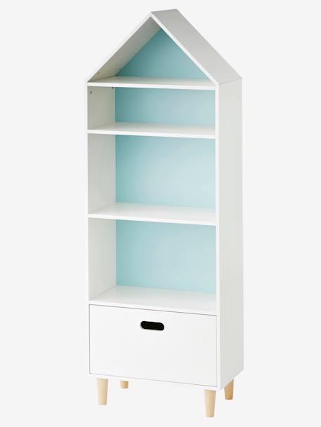 meuble de rangement maison 5 cases blanc vertbaudet. Black Bedroom Furniture Sets. Home Design Ideas