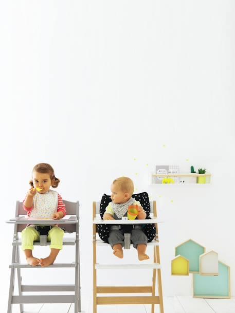 coussin de chaise haute vertbaudet noir imprim vertbaudet. Black Bedroom Furniture Sets. Home Design Ideas