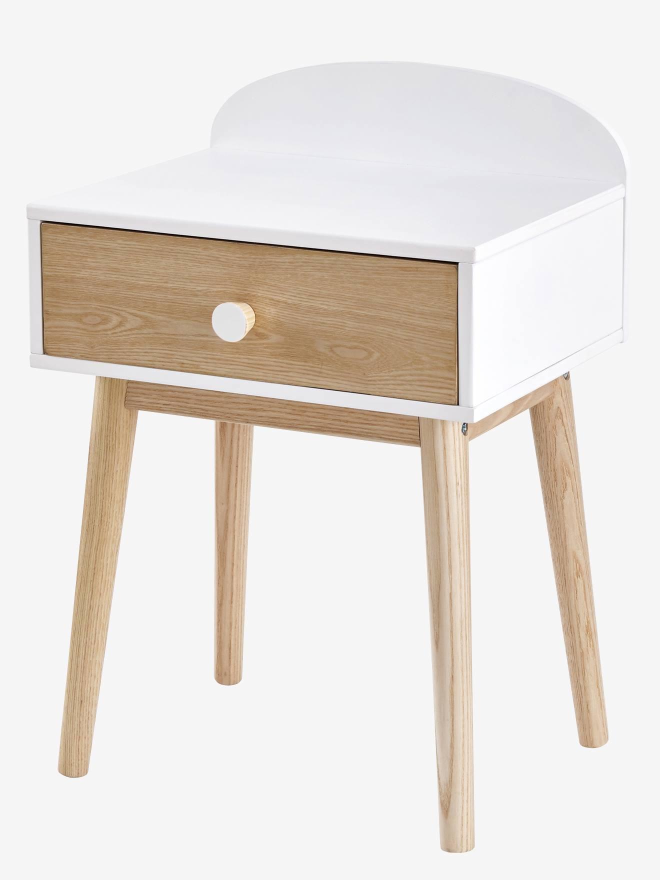 Achat chevets chambre meubles discount page 2 for Table de nuit bois blanc