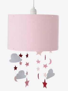 Image of Luminaire enfant - Abat-jour à suspendre étoiles et nuages rose vertbaudet