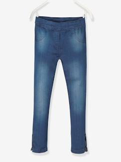 Fille-Jean-Tregging fille en denim ultra-stretch tour de hanches LARGE