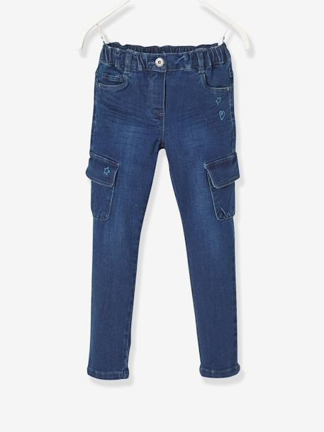 Pantalon slim fille tour de hanches MEDIUM Stone 1 - vertbaudet enfant