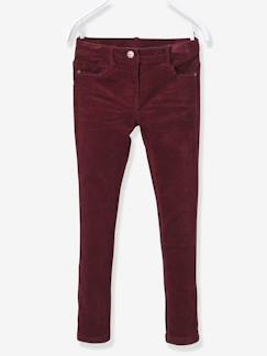 Fille-Pantalon-Pantalon slim fille en velours tour de hanches LARGE