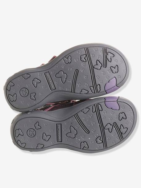 Bottines cuir fille collection maternelle Noir+Rose pâle+Violet 16 - vertbaudet enfant
