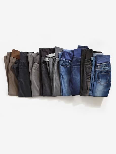 Jean slim stretch de grossesse entrejambe 78 Denim brut+Denim gris clair+Denim Gris Clair+Denim noir+Double Stone 27 - vertbaudet enfant