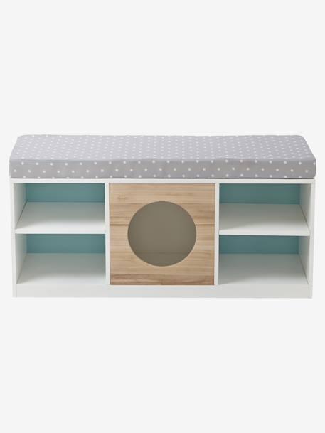 meuble 2 en 1 rangement banquette blanc bois vertbaudet. Black Bedroom Furniture Sets. Home Design Ideas