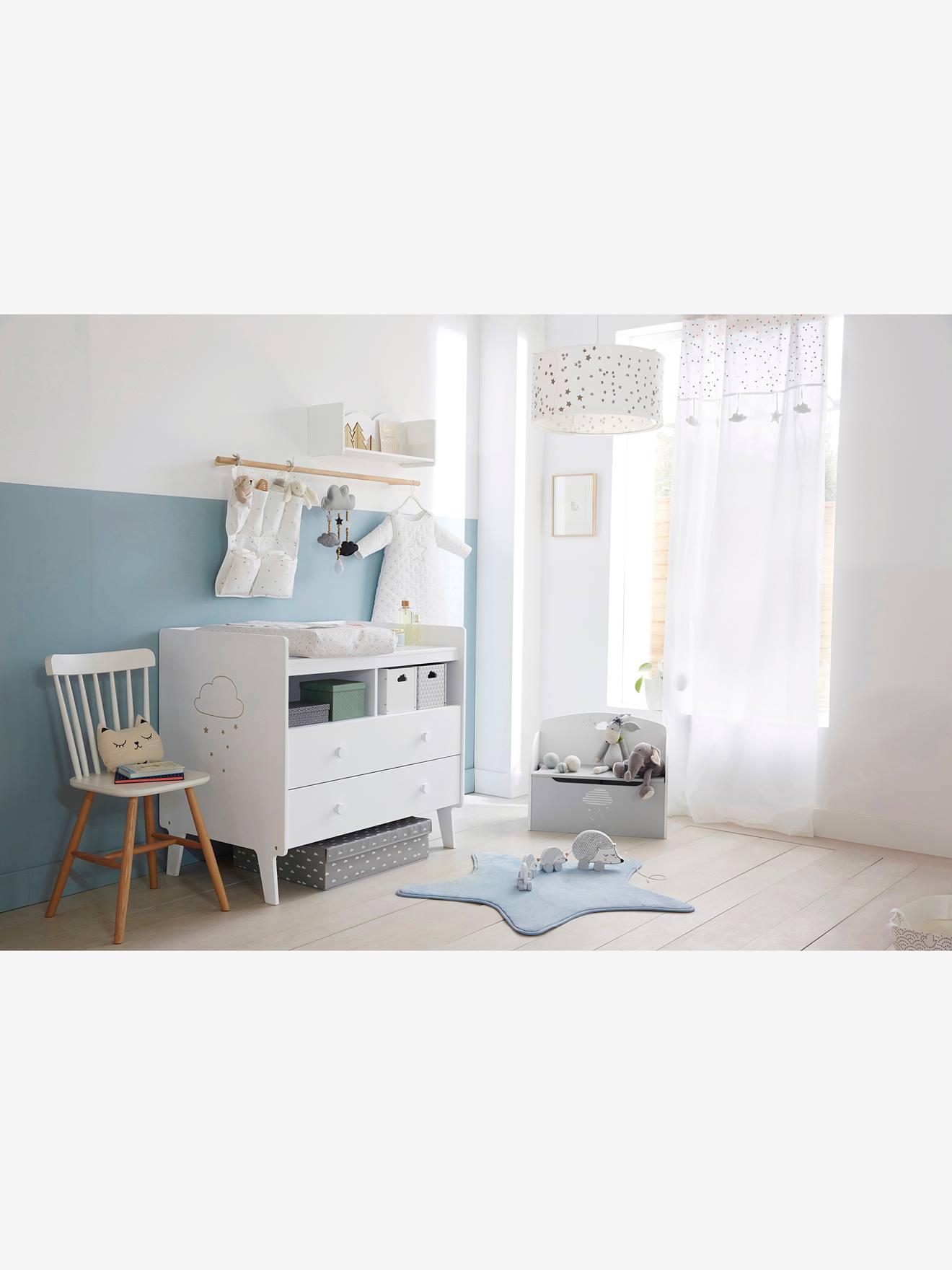 good affordable banc coffre de rangement nuage gris blanc vertbaudet enfant with coffre a jouets. Black Bedroom Furniture Sets. Home Design Ideas