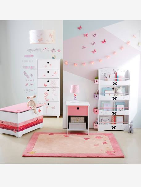 Etag re biblioth que papillons blanc vertbaudet for Club meuble avantage