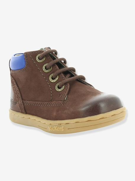 Bottines bébé garçon Tackland KICKERS® à zip Camel+Marron 14 - vertbaudet enfant